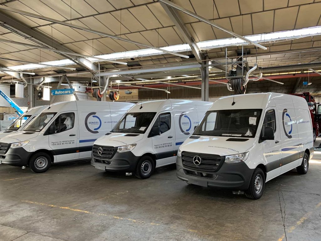 Marquage vehicule utilitaire transport toulouse
