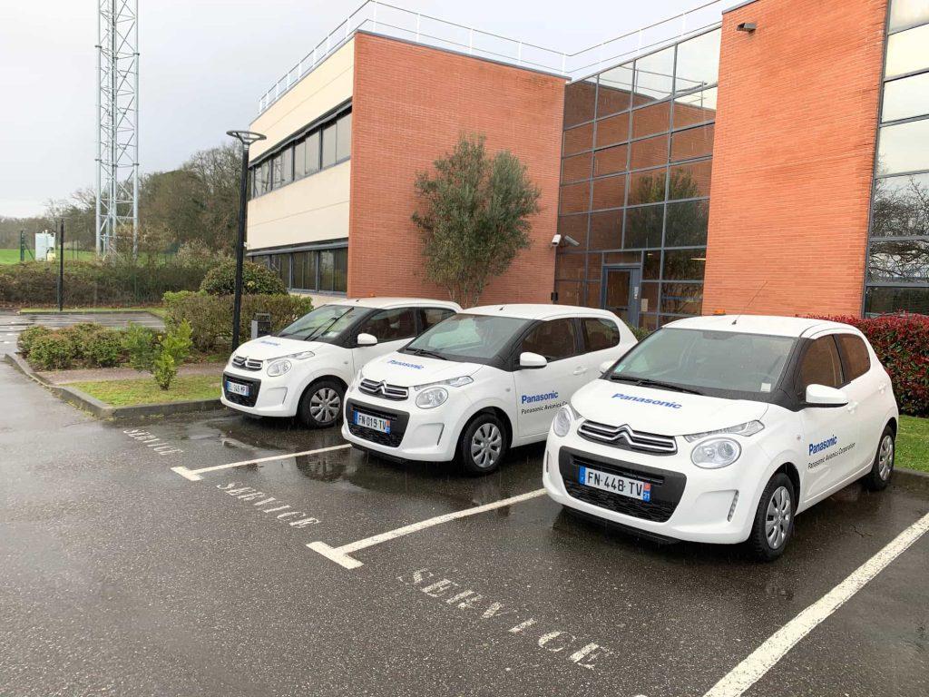Marquage flotte de vehicule Panasonic Toulouse