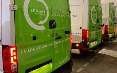Covering à Toulouse pour la société de Transport Senges.