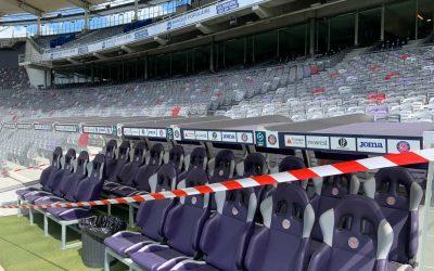 Panneau publicitaire et signalétique intérieure au Stadium Toulouse